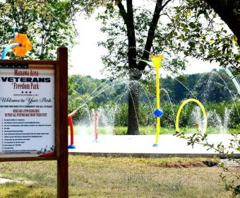 Photo of Manawa Area Veterans Freedom Park Splashpad Area