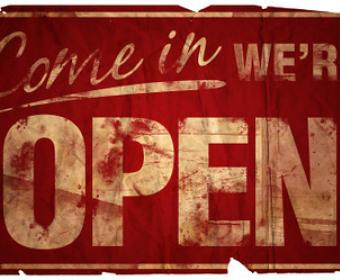 Image of open sign